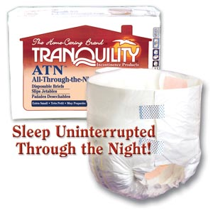 Principle Business Tranquility® All-Through-The-Night Disposable Briefs