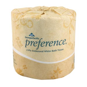 Georgia-Pacific Preference® Embossed Bathroom Tissue